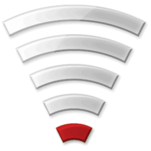 A poor WiFi signal