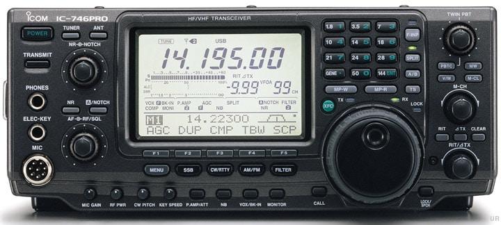 De IC-746Pro heeft de echte ICOM looks